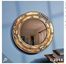 amazon com nautical ship porthole mirror wall decor by fun