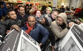 tv sale black friday unbelievable black friday pictures from an asda as chaos prevails