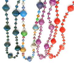 making necklace with beads images Paper beaded necklaces from africa jpg
