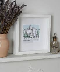 our personalised house portrait from letterfest daisychains