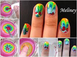 rainbow marble nail art tutorial usefuldiy com