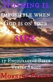encouraging bible verses morning prayer