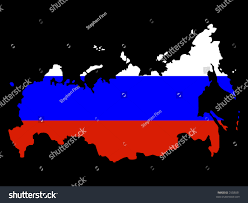 Colors Of Russian Flag Map Russia Russian Flag Illustration Stock Vector 2558031