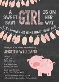 finding beauty in life chalkboard and pink pig baby shower