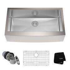 36 inch farmhouse single bowl stainless steel kitchen sink with