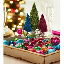 bright miniature ornament tray