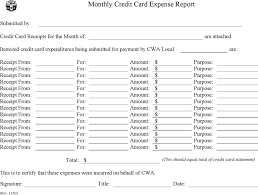 download credit card expense report template for free tidyform