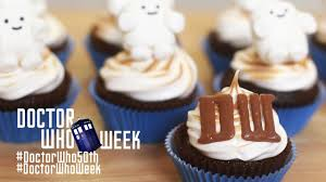dr who smore cupcakes nerdy nummies dr who 50th anniversary