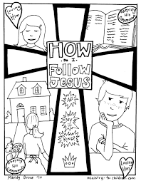 bible coloring pages for kids jesus and the children loves