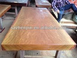 natural wood table top microgroove natural color big log solid slab wood table top room
