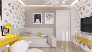 Yellow And Gray Wall Decor by 5 Creative Kids Bedrooms With Fun Themes