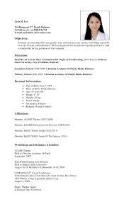 sle resume format for ojt tourism students quotes resume sle for tourism student create professional resumes
