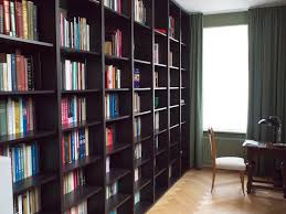 Black Book Shelves by Ikea Hackers Floor To Ceiling Billy Bookshelves For Makeshift