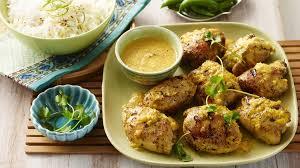 cuisiner haut de cuisse de poulet hauts de cuisse de poulet grillés sauce aux pêches et au cari