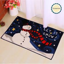 Santa Claus Rugs Christmas Mat Cartoon Carpet 48x78cm Christmas Gifts Snowman