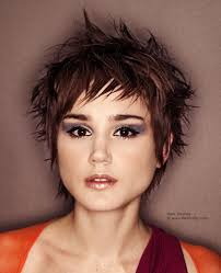 gamine hairstyles for mature women gamine pixie haircut with choppiness and a rich brunette haircolor