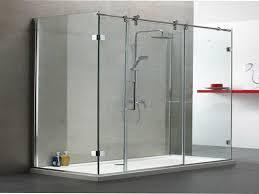 Large Shower Doors Frameless Sliding Glass Shower Doors Plans Home Ideas Collection