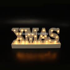 white wooden letter light led marquee sign light up
