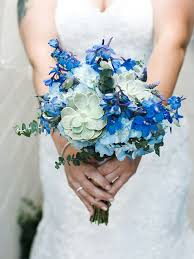blue wedding the best blue wedding flowers and 16 gorgeous blue bouquets