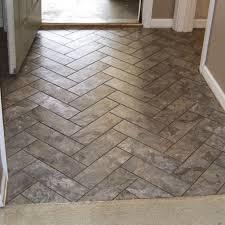 herringbone vinyl tile pattern via grace gumption peel and