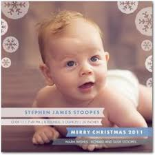 christmas card baby announcement design graphic design
