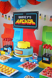 love themes video arcade video game pac man sonic mario themed birthday party planning