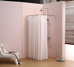 popular l shaped shower curtain rod track all about house design