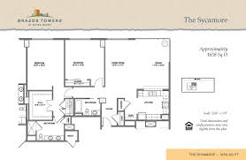 Sycamore Floor Plan Residences Brazos Towers At Bayou Manor