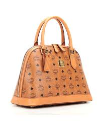 mcm designer mcm heritage m handbag leather cognac mww3svi30co001 designer