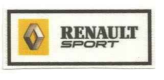 logo renault sport textile patch renault sport 10cm x 4cm los parches