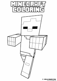 minecraft coloring kids coloring pages printable