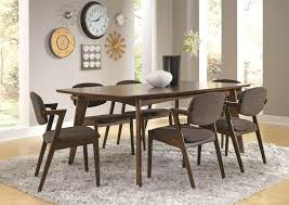modern dining room table chairs dining room tables ideas coaster malone mid century modern casual dining table coaster inside measurements 4000 x 2824