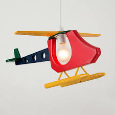 Helicopter Ceiling Light Colourful Childrens Bedroom Boys Helicopter Ceiling Light