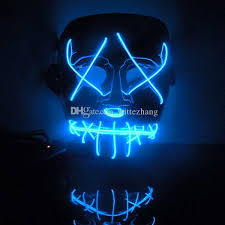 new year flash el wire led glowing beauty christmas party mask