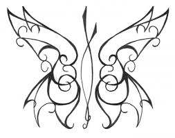 butterfly theme tribal design for hanslodge cliparts
