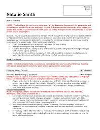 Sample Executive Summary For Resume by Sample Brand Marketing Resume
