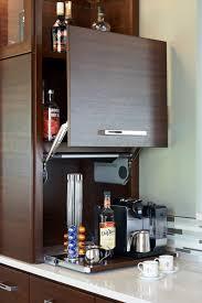 Hidden Kitchen Storage Coffee Tea And Beverage Station That Can Be Hidden 2016 Nkba