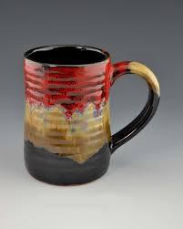 ceramic pottery desert red tankard mug 16 oz giftedpottery com