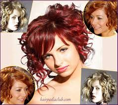 haircuts for curly hair and round faces asymmetric short haircuts for curly hair and round faces