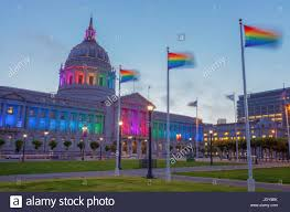 sf city hall lights san francisco city hall lights up to celebrate the lgbtq pride month