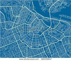 vector map blue white vector city map amsterdam stock vector 582458647