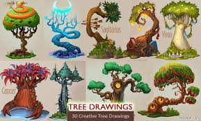30 beautiful tree drawings and creative ideas from top artists