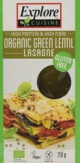 cuisine lasagne explore cuisine organic green lentil lasagne 250g ebay