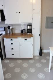 Laminate Flooring In Kitchens A Warm Conversation Work With What You Got Painted Kitchen Floors