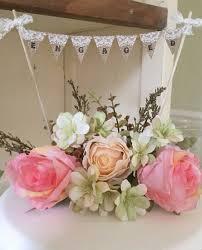 burlap cake toppers custom white wedding party burlap cake toppers bunting