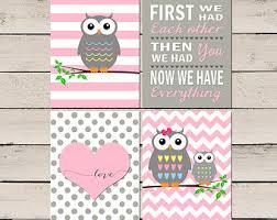Nursery Owl Decor Owl Nursery Decor Etsy