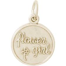 flower girl charms gold and sterling silver flower girl charm deleuse jewelry