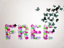 flower wall decor diy