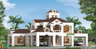 5 bedroom 5000 sq ft colonial home kerala home design and floor