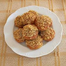 melomakarona greek christmas honey and nuts cookies stock photo